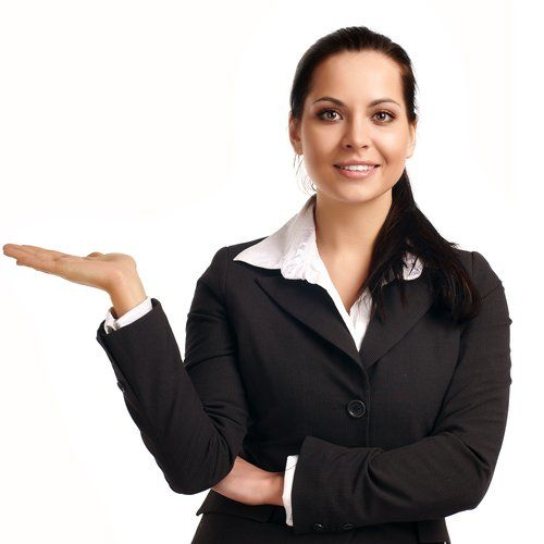 Woman_pointing | Federated Mortgage Corp.